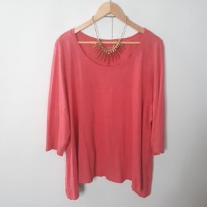 🍍3×$30/ Eileen Fisher comfy elbow sleeve Top